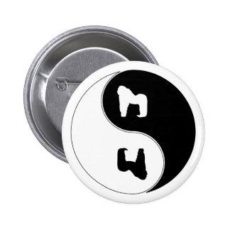 Gorila de Yin Yang Pin Redondo 5 Cm