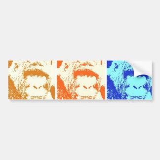 Gorila del arte pop pegatina para auto