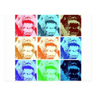 Gorila del arte pop tarjetas postales