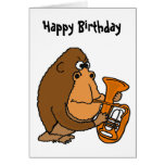Gorila del BR que juega la tarjeta de cumpleaños