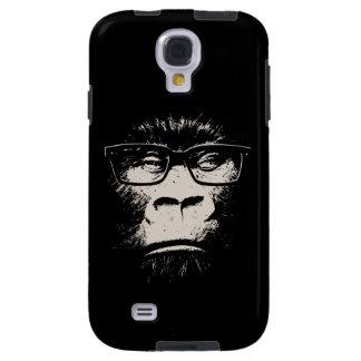 Gorila del inconformista con los vidrios funda para galaxy s4