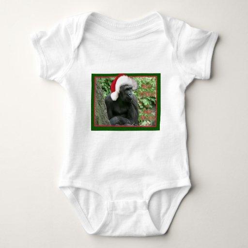Gorila del navidad t-shirts
