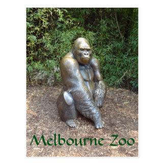 Gorila del parque zoológico de Melbourne Postal
