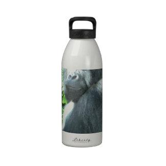 gorila del silverback botella de beber