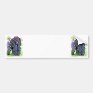 Gorila del Silverback en aceite Etiqueta De Parachoque