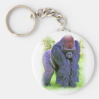 Gorila del Silverback en aceite Llaveros