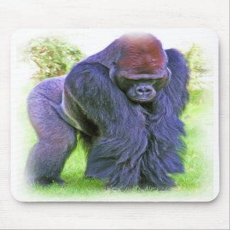 Gorila del Silverback en aceite Tapete De Raton