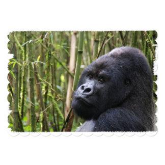 Gorila del Silverback Invitación 12,7 X 17,8 Cm