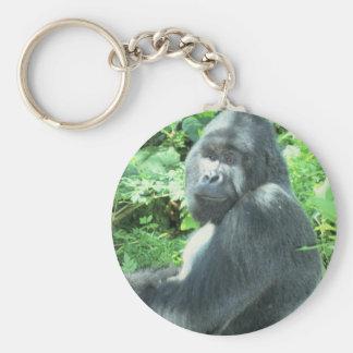 gorila del silverback llavero personalizado