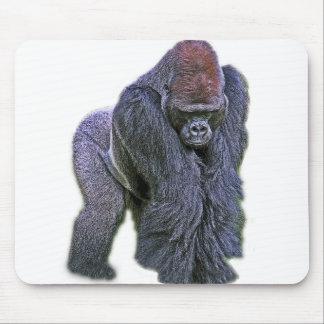 Gorila del Silverback, parte posterior del blanco  Alfombrilla De Ratón