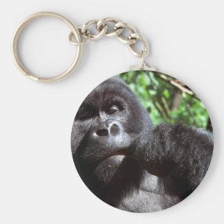 Gorila del varón del Silverback Llaveros
