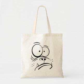 Gorila divertido que mira imagen confusa del bolsa tela barata