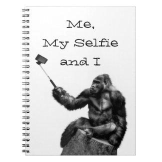 Gorila divertido Selfie Libreta Espiral