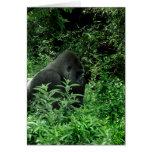 Gorila en animal verde de la fauna del tinte de la tarjetas