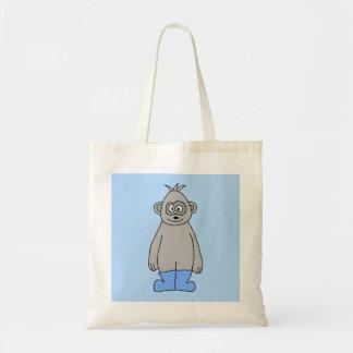 Gorila en botas azules bolsa de mano