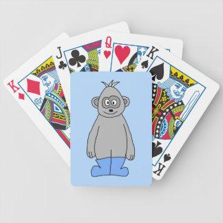 Gorila en botas azules baraja de cartas