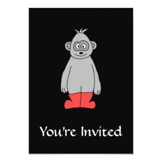 """Gorila en botas rojas invitación 5"""" x 7"""""""