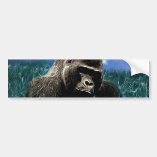 Gorila en el prado etiqueta de parachoque