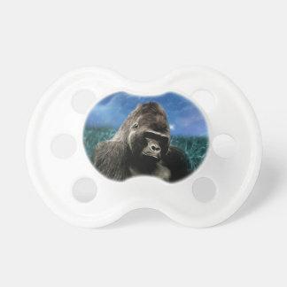 Gorila en el prado chupetes