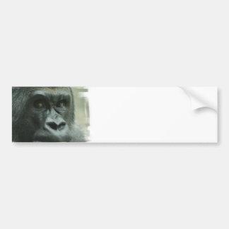 Gorila en las pegatinas para el parachoques de la etiqueta de parachoque