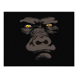 Gorila en negro invitación personalizada