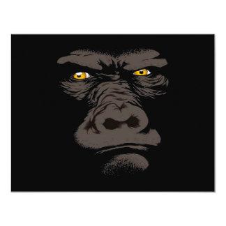 """Gorila en negro invitación 4.25"""" x 5.5"""""""