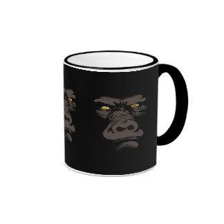 Gorila en negro taza de dos colores