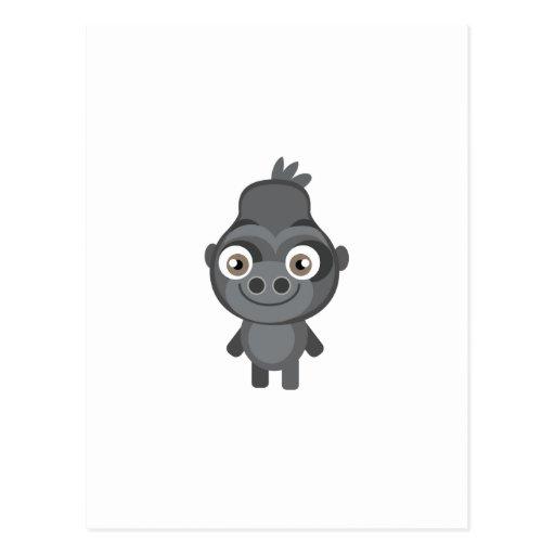 Gorila en peligro - mi parque de la protección tarjeta postal