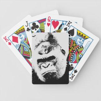 Gorila enojado baraja de cartas bicycle