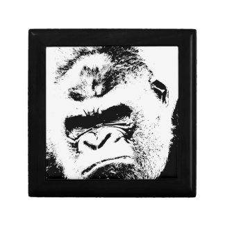 Gorila enojado joyero cuadrado pequeño