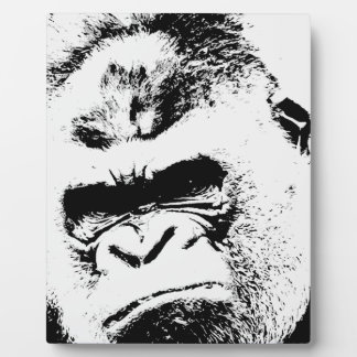 Gorila enojado placa de plastico