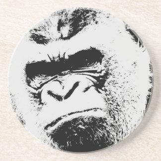 Gorila enojado posavasos cerveza