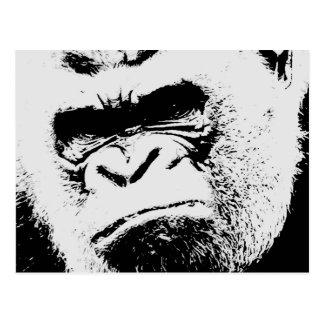 Gorila enojado postales