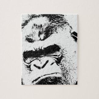 Gorila enojado puzzles con fotos