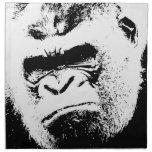 Gorila enojado servilleta imprimida