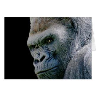 Gorila enojado tarjeta de felicitación