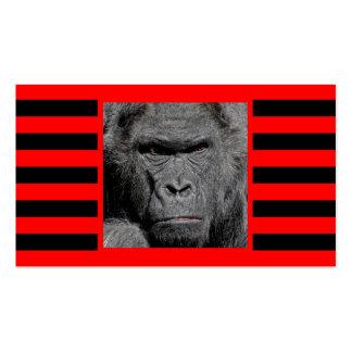 Gorila enojado tarjetas de visita