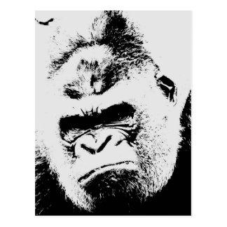 Gorila enojado tarjetas postales