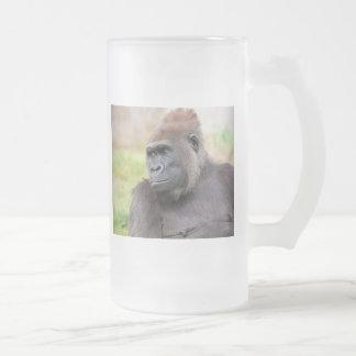 Gorila femenino taza de cristal