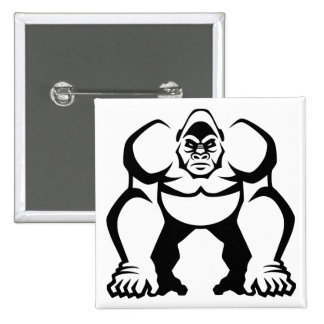 Gorila grande pin cuadrada 5 cm