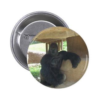 Gorila gruñón pin redondo de 2 pulgadas