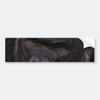 Gorila imponente pegatina para auto