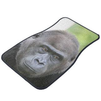 gorila impresionante alfombrilla de auto