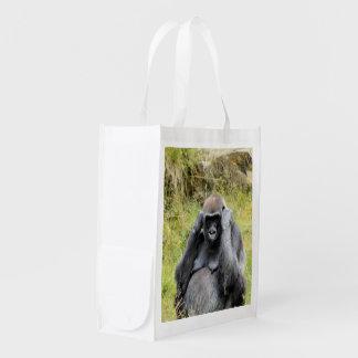gorila impresionante bolsas de la compra