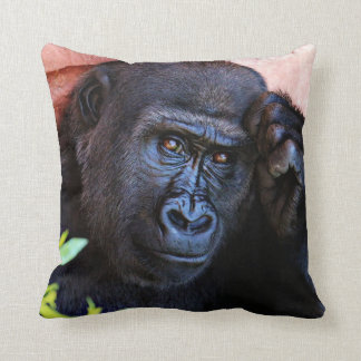 gorila impresionante cojín decorativo