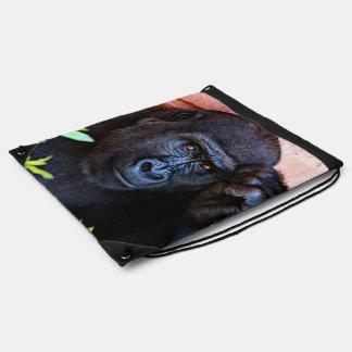 gorila impresionante mochila
