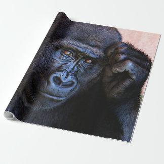 gorila impresionante papel de regalo