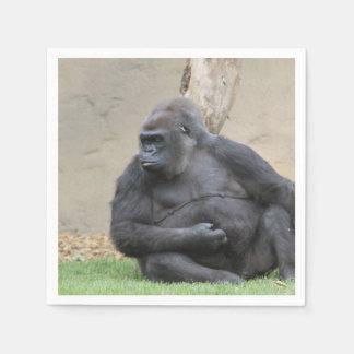 gorila impresionante servilletas de papel