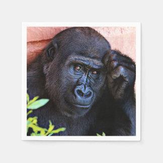 gorila impresionante servilletas desechables