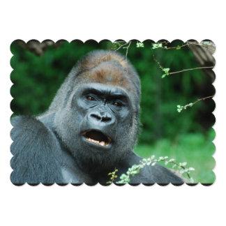Gorila Invitación 12,7 X 17,8 Cm